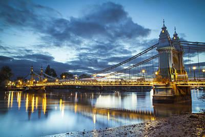 Hammersmith Bridge Print by Vincent Sluiter