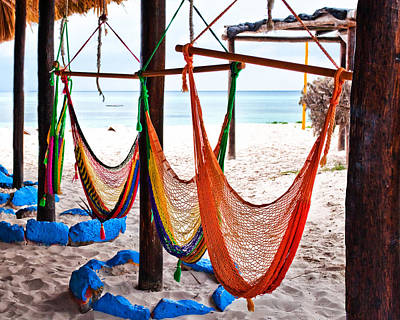 Beach Photograph - Hammocks In The Tropics by Brett Price