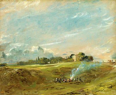Bonfire Painting - Hampstead Heath, With A Bonfire Hampstead Heath Hampstead by Litz Collection