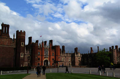 Castle Digital Art - Hampton Court by Jenny Armitage