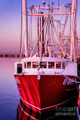 Hampton Fishing Boat Print by Jerry Fornarotto