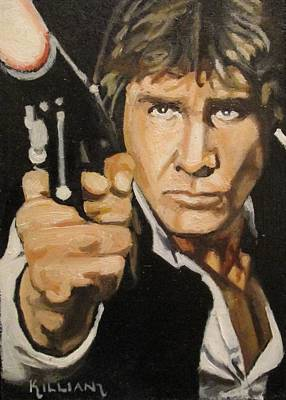 Menace Painting - Han Solo I've Got A Bad Feeling About This  by Patrick Killian