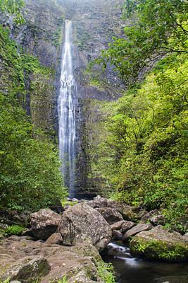 Hanakapiai Falls - Kalalau Trail Kauai Hawaii Print by Brian Harig