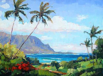 Painting - hanalei Bay Resort View by Jenifer Prince