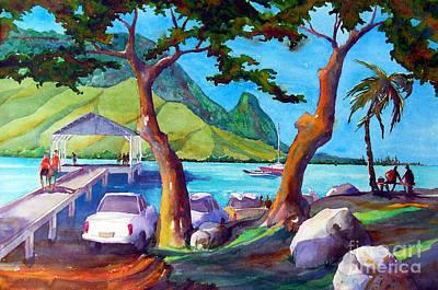 Hanalei Pier Print by Jerri Grindle