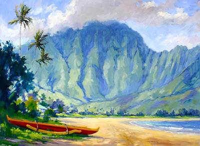 Canoes Painting - Hanalei Style by Jenifer Prince