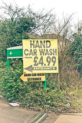 Decrepit Photograph - Hand Car Wash by Tom Gowanlock