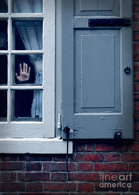 Hand In Window Of Old House Print by Jill Battaglia