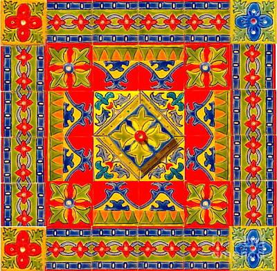 Ceramic Mixed Media - Hand Made Art Tiles Back Splash by Anastasia Verpaelst