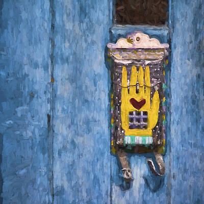 Detail Mixed Media - Hand-painted Mailbox Painterly Effect by Carol Leigh