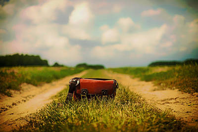 Leather Purses Photograph - Handbag On A Country Lane by Mountain Dreams