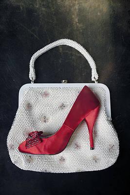 Handbag With Stiletto Print by Joana Kruse