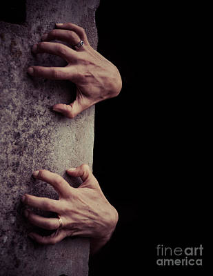 Creepy Photograph - Hands Crawling Out Of The Darkness by Edward Fielding