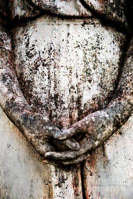 Hands In Prayer Print by Sonja Quintero