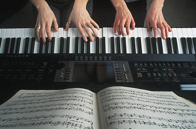 Hands On Keyboard Print by Kelly Redinger