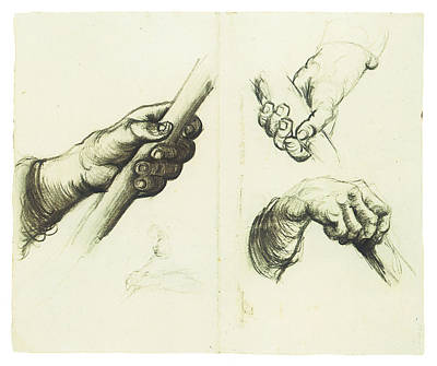 Impressionism Drawing - Hands by Vincent Van Gogh