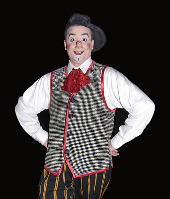 Handsome Clown At The Circus Print by Susan Leggett
