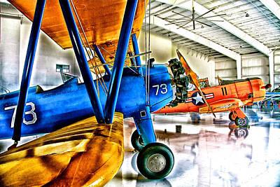 Warbird Mixed Media - Hangar Buddies Two by Chas Burnam