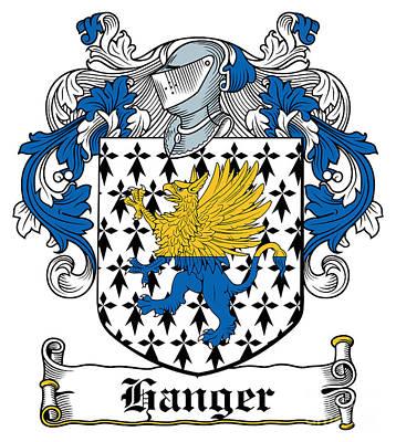 Hanger Coat Of Arms Irish Print by Heraldry