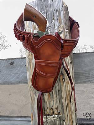 Cowboy Art Digital Art - Hangin Out by Brien Miller