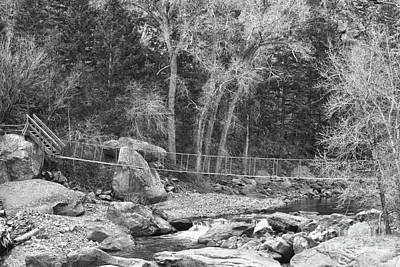 Hanging Bridge In Black And White Print by James BO  Insogna