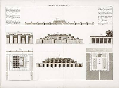 Hanging Gardens Of Babylon Print by Science, Industry And Business Library/new York Public Library