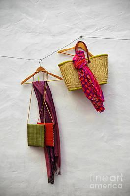 Purses Photograph - Hanging Handicraft  by Carlos Caetano