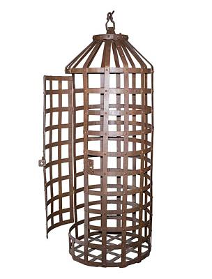 Hanging Iron Cage Print by David Parker