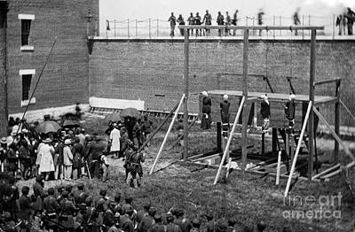 Mary Powell Photograph - Hanging Of Lincoln Conspirators Mary Surratt Lewis Powell David Herold George Atzerodt by David Call