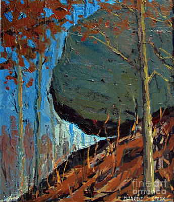 Famous Acrylic Landscape Painting - Hanging Rock No.1 by Charlie Spear