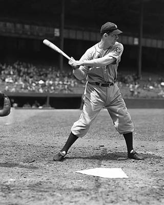 Slugger Photograph - Hank Greenberg At The Plate by Retro Images Archive