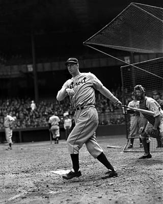 Slugger Photograph - Hank Greenberg Follow Through by Retro Images Archive