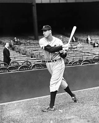 Slugger Photograph - Hank Greenberg Practice Swing by Retro Images Archive