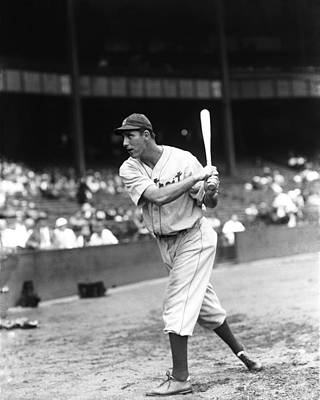 Slugger Photograph - Hank Greenberg Pre Game Swinging by Retro Images Archive