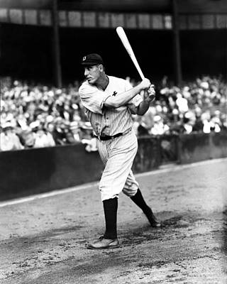 Slugger Photograph - Hank Greenberg Swinging by Retro Images Archive