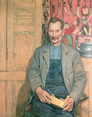 Carpenter Painting - Hans Arnbom The Carpenter by Carl Larsson