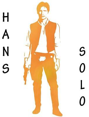 Hans Solo Star Wars Print by Dan Sproul