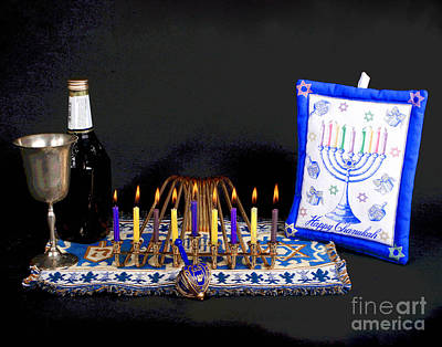 Hanukah Photograph - Hanukah Candle Traditions by Larry Oskin