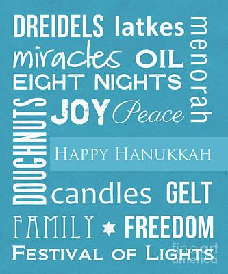 Family Mixed Media - Hanukkah Fun by Linda Woods