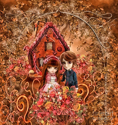 Hanzel And Gretel Print by Mo T
