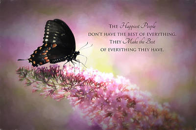 Swallow Tail Photograph - Happiest People by Lori Deiter
