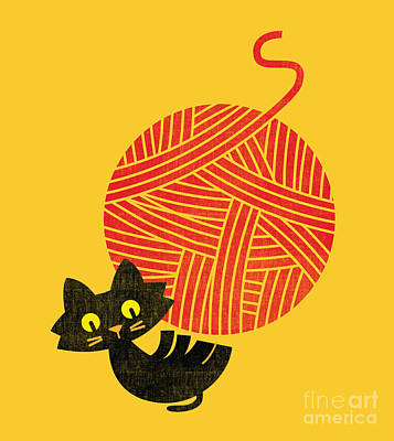 Happy Cat Print by Nava Seas