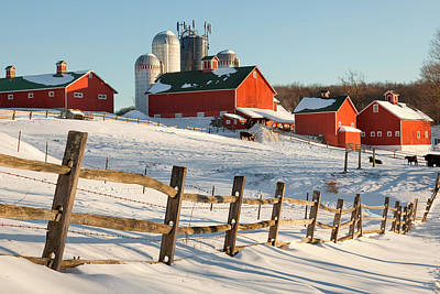 New England Dairy Farms Photograph - Happy Acres Farm by Bill Wakeley