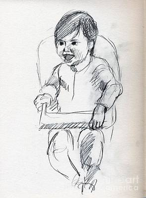 Whistler Drawing - Happy Baby by Whistler Kenworthy