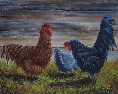 Happy Barnyard Original by Xochi Hughes Madera