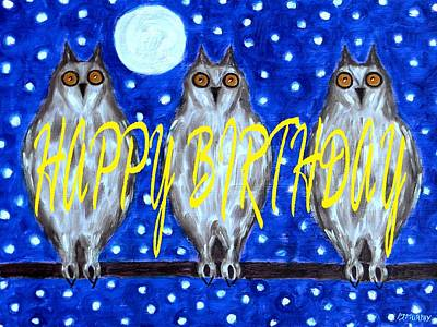 Wildlife Celebration Painting - Happy Birthday 13 by Patrick J Murphy