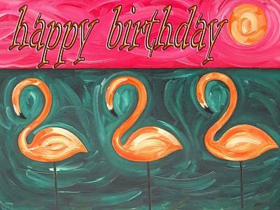 Wildlife Celebration Painting - Happy Birthday 18 by Patrick J Murphy