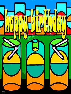 Party Card Mixed Media - Happy Birthday 42 by Patrick J Murphy