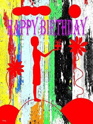 Happy Birthday 7 Print by Patrick J Murphy