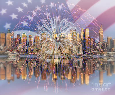 Happy Birthday America Print by Susan Candelario